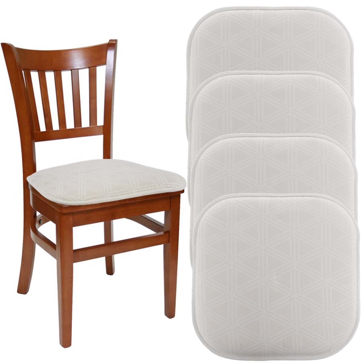 Dream Home (Set Of 4) Gripper Chair Pads For Office Chairs, 16u201d X 16u201d  Indoor Seat Cushion For Kitchen Chairs, Seat Pillow For Rocking Chair,  Dining Chair ...