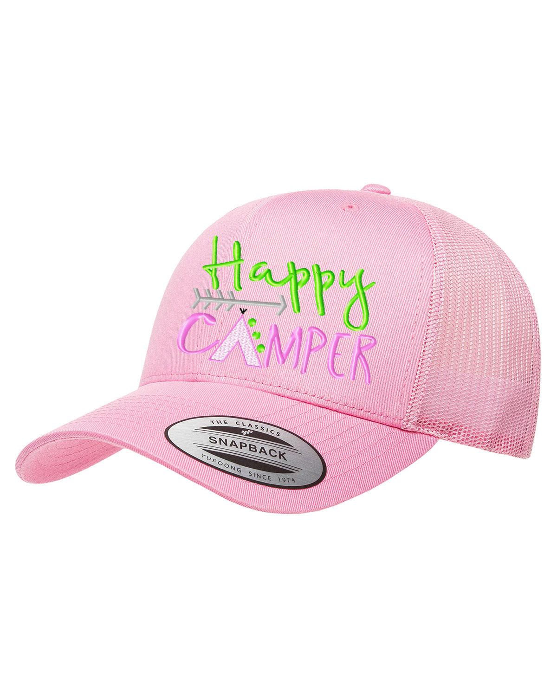 Happy Camper Hat Baseball Cap Mesh Snapback Embroidered Flag - Walmart.com d4d0cab0d664