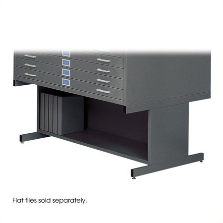 "Safco 20""H Open Base for 4998 Flat File Cabinet in Black"