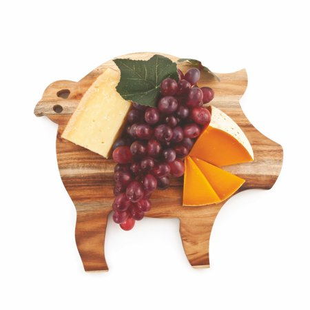 Cheese Serving Board, Acacia Wood Unique Pig Rustic Elegant Cheese Board (Sold by Case, Pack of 6) ()