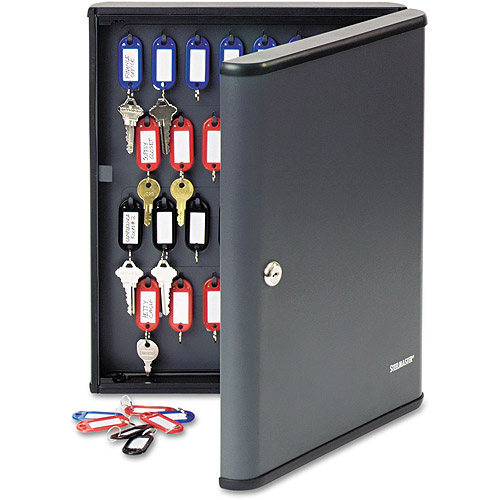 SteelMaster by MMF Industries Security Key Cabinet for 60 keys, Charcoal Gray