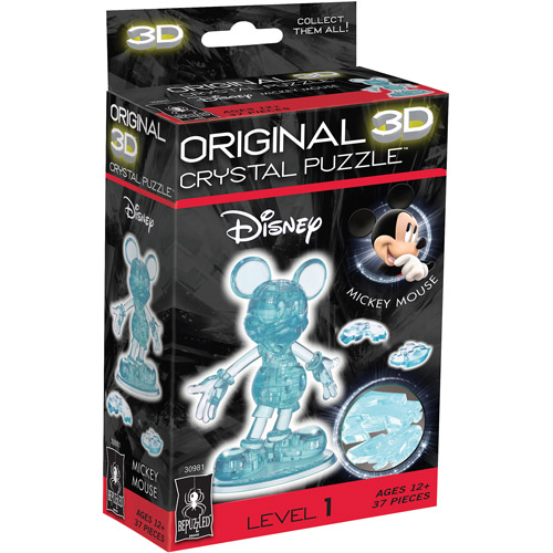 3D Crystal Puzzle, Mickey Mouse: 37 Pieces