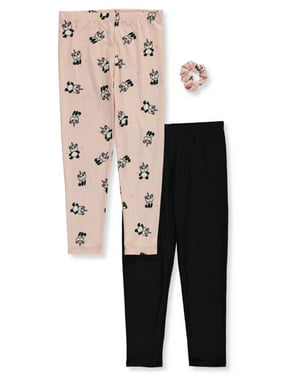 One Step Up Girls' Starry Pandicorn 2-Pack Leggings with Scrunchie