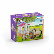 Schleich Horse Club, Horse Stall with Arab Horses and Groom Toy Figure