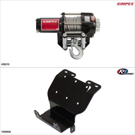 Kimpex 2500 lb Winch Kit - Steel, Honda FourTrax 300 1993-00   #KK00001617_1