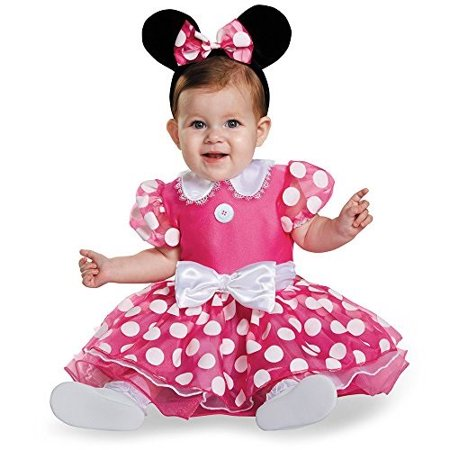 Girl Infant Costume (Disguise Baby Girls\' Pink Minnie Prestige Infant Costume, Pink, 6-12)