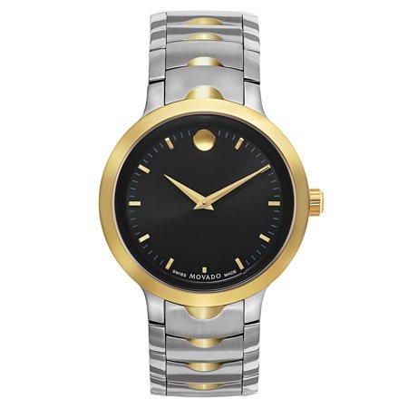 Serio Series Mens Black Dial TwoTone Swiss Quartz Watch 0606388