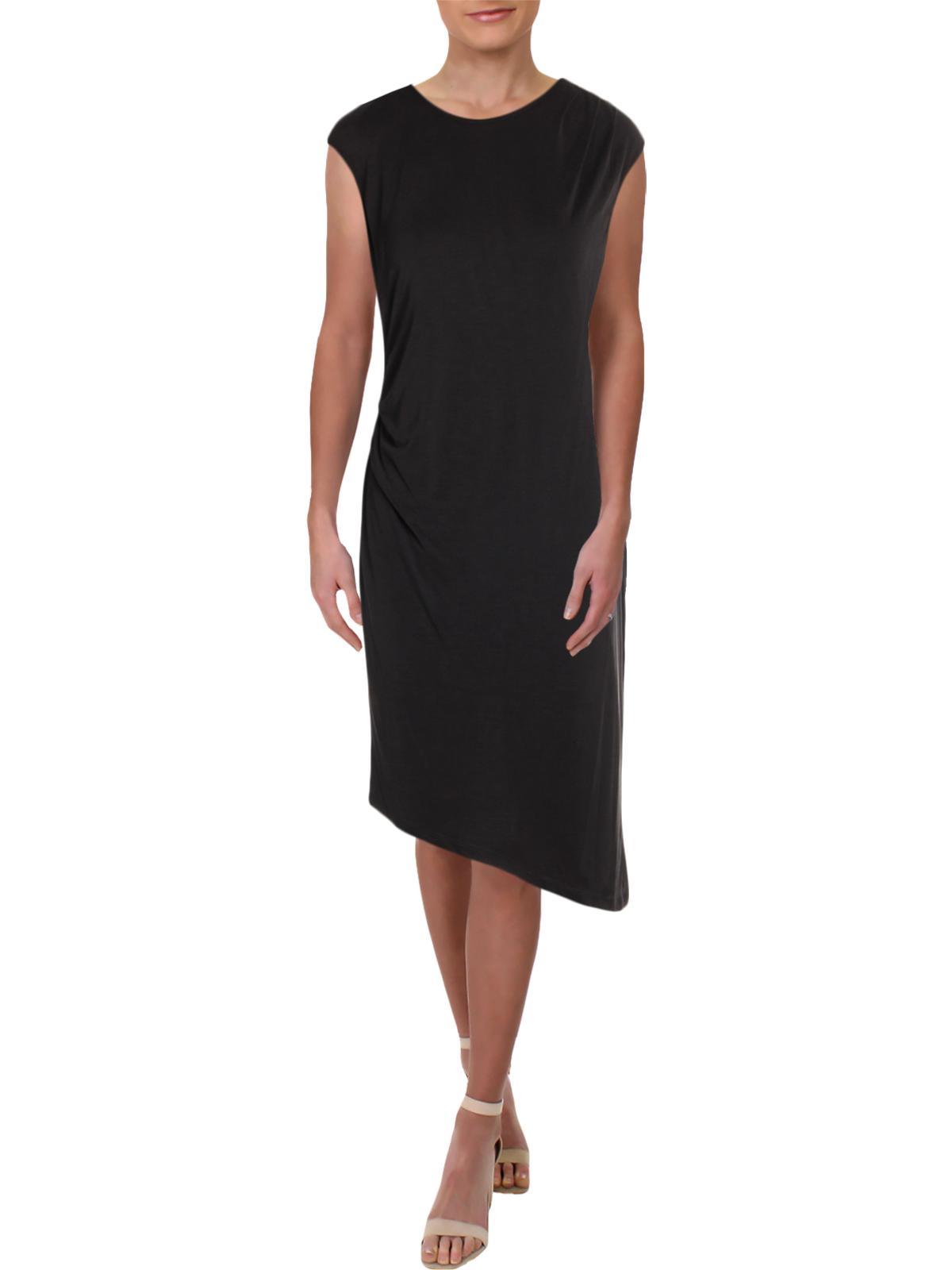 Zoe Cloud Nine Women/'s Asymmetric Ruched Cap Sleeve Midi Dress Nic