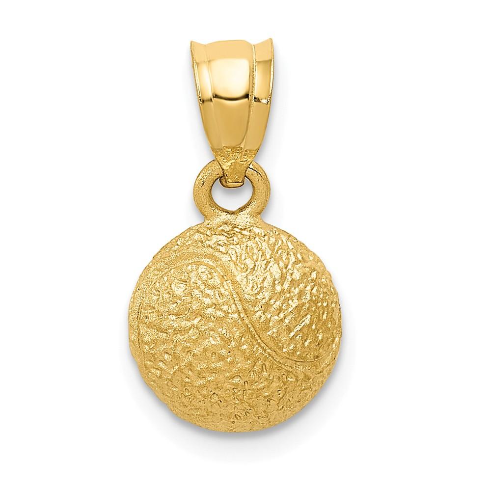 14k Yellow Gold Tennis Ball Pendant