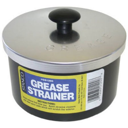 Non Greasy Light - GS1200 Non-Stick Grease Strainer, Black, Holds 32 FL Oz By Stanco