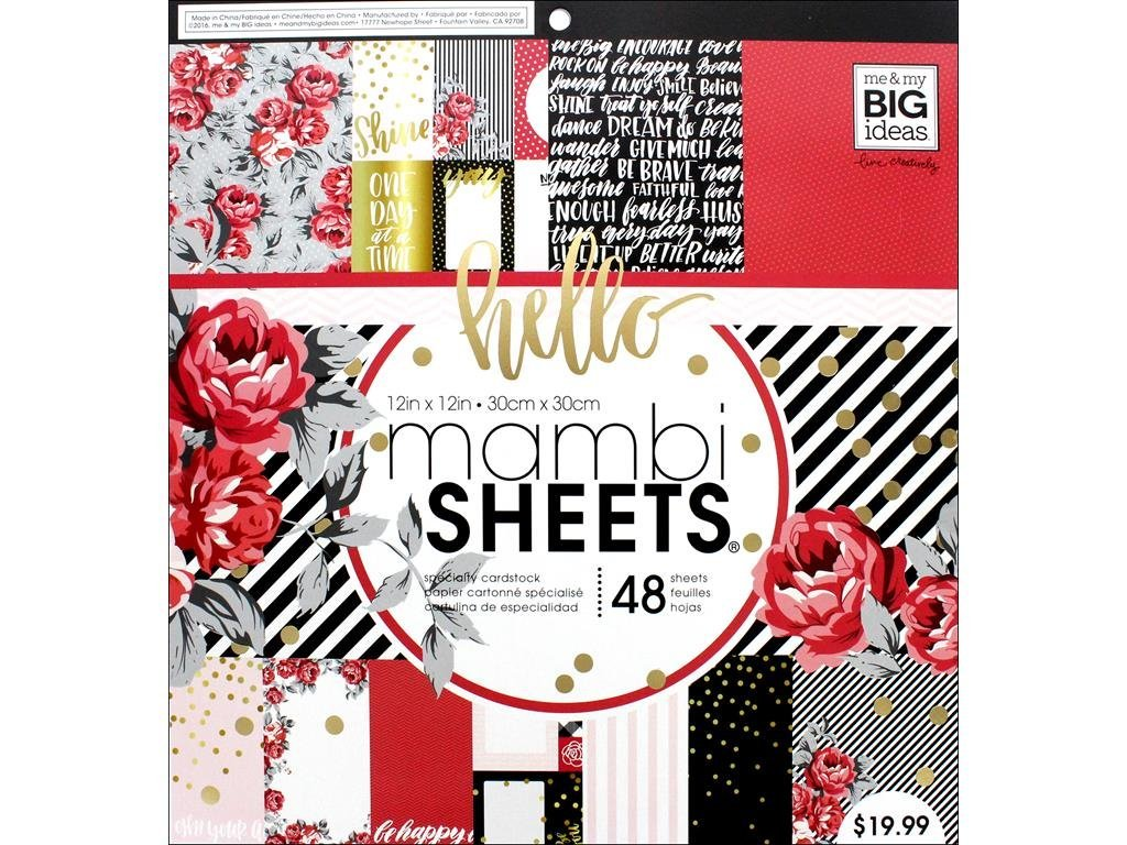 Me and My Big Ideas MAMBI Sheets 12 x 12 Specialty Paper Pad Cool Baby Boy