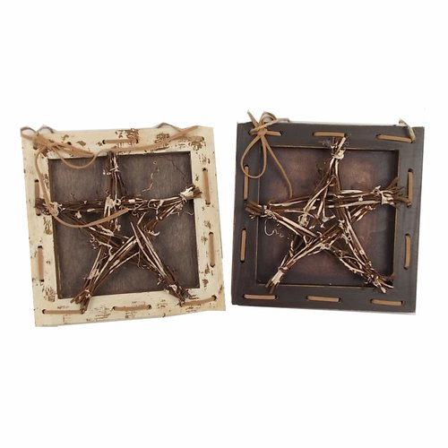 Craft Outlet Star Hanging Wall D cor Set (Set of 2)