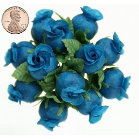 144 Miniature Poly Rose Silk Favor Flower Pick Wedding Shower - Periwinkle](Periwinkle Wedding)
