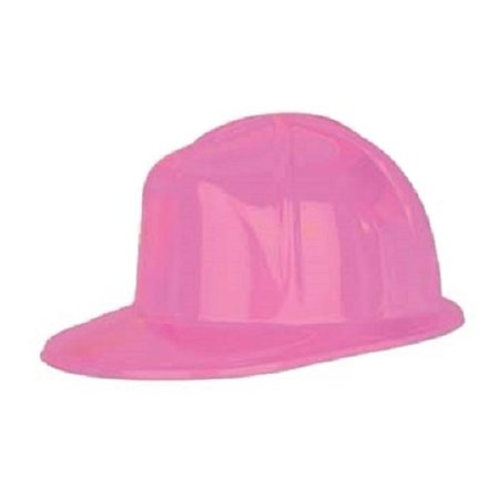 Pink Plastic Hard Construction Miner Safety Womens Helmet Hat Costume Accessory