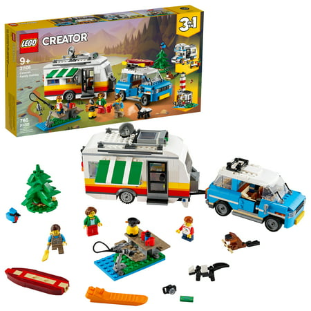 LEGO Creator 3in1 Caravan Family Holiday 31108 Creative Building Toy Set for Kids Ages 9+ (766 Pieces)