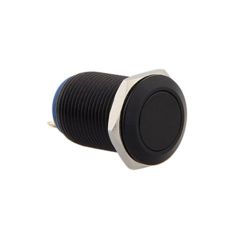 Momentary Black Horn Push Button Temporary Reset Flush Switch Car Boat Circuit ()