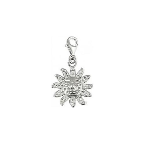 Doma Jewellery DJS01491 Sterling Silver and Crystal Charm - Sun