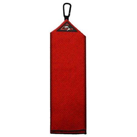 proactive sports looper microfiber tri fold golf towel (red)
