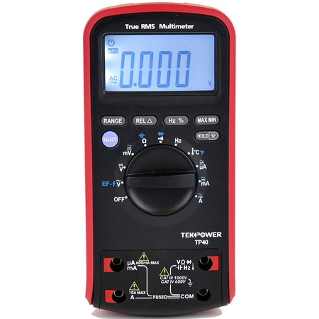 Tekpower TP40 6000 Counts True RMS Digital AC/DC Auto Range Digital Multimeter With Relative Measurement and NCV Features