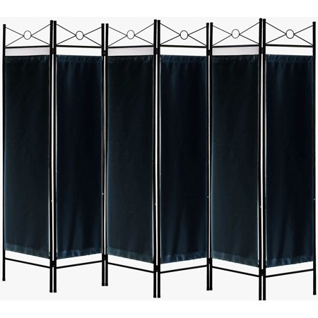 Legacy Decor 6 Panels Room Dividers Privacy Screen Home Office Fabric Metal Brown Color Privacy Floor Screen