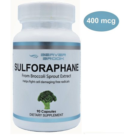 Beaver Brook Sulforaphane from Broccoli Sprout 400 mcg All Natural Dietary  Supplement