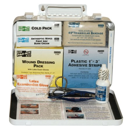 25 Person Vehicle First Aid Kits, Weatherproof Steel, Wall Mount ()