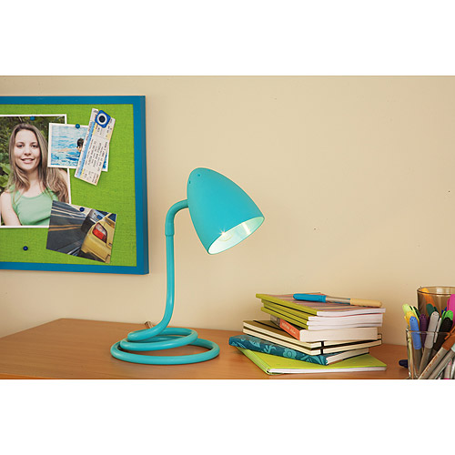 Your Zone Spiral Base Desk Lamp, Peacock Plume