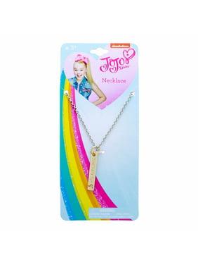 JoJo Siwa Girls Vertical Pendant Necklace Bar Just Have Fun Kids Fashion Jewelry