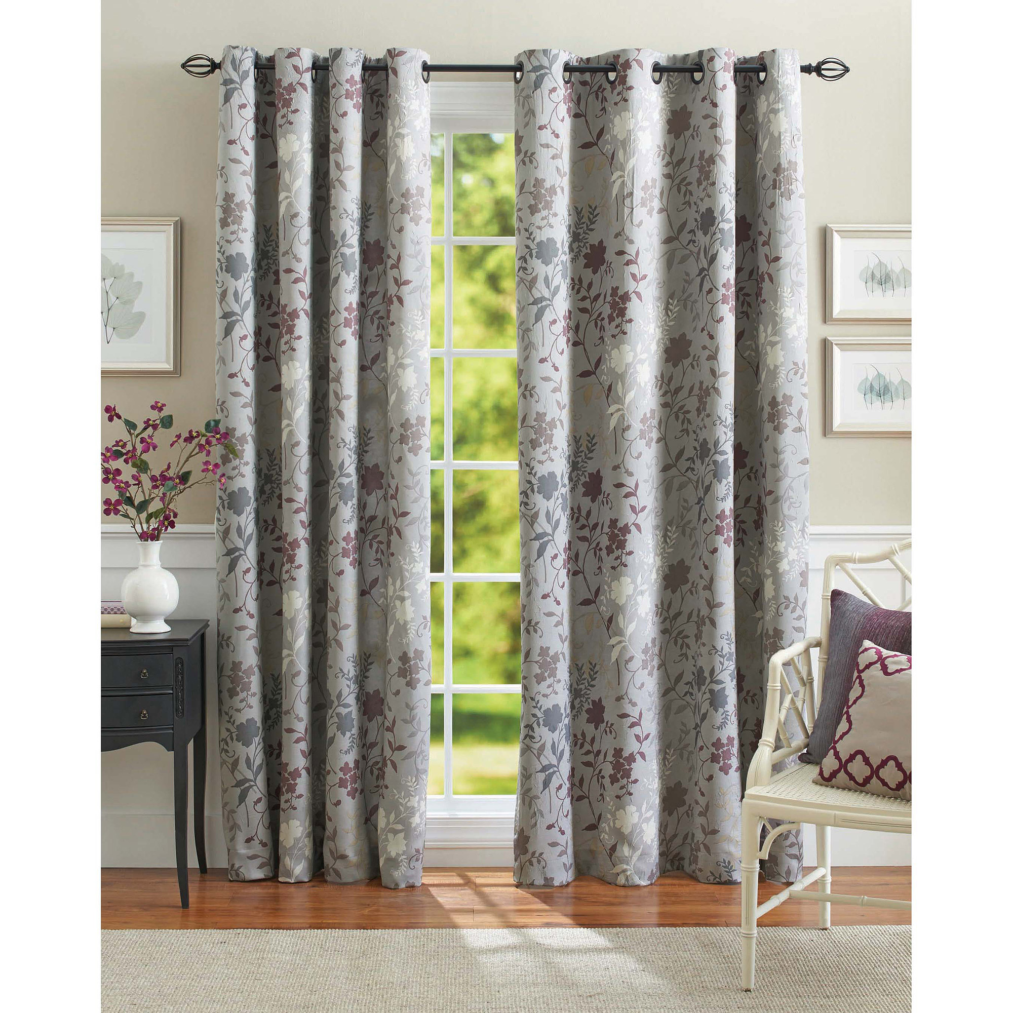 Better Homes and Gardens Calista Print Room Darkening Curtain Panel