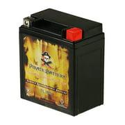 Pirate Battery YTX7L-BS (7L-BS 12 Volt,6 Ah, 75 CCA) High Performance Power Sports Battery