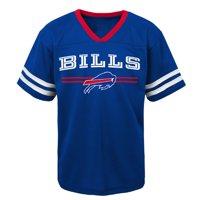 Youth Royal Buffalo Bills Mesh V-Neck T-Shirt