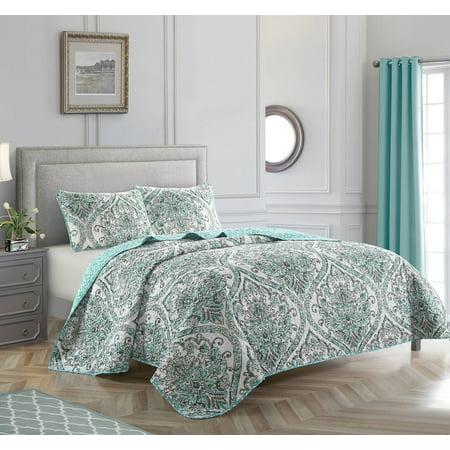Casa Medallion Trays - Casa Medallion Printed 3 Piece Reversible Quilt Set, Multiple Sizes