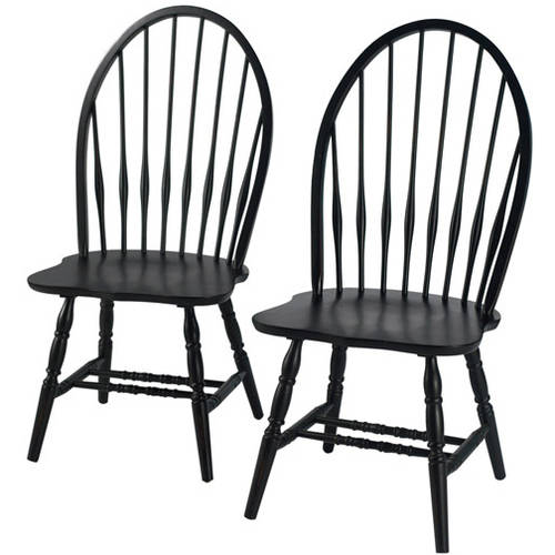 big windsor chair, black (set of 2) - walmart