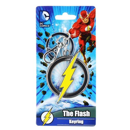 DC Comics The Flash Logo Color Pewter Key Ring
