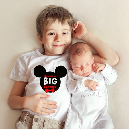 Big Brother Sticker - Disney Mickey Mouse Big Brother Photo Sharing Belly Sticker, Little Boy, Age 2-7