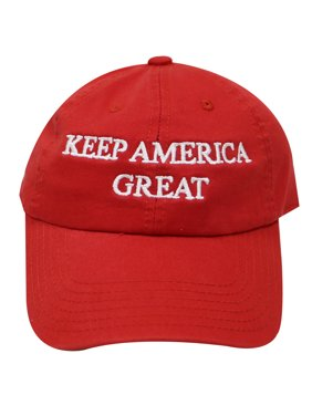 City Hunter C104 Keep America Great Cotton Baseball Caps - Red