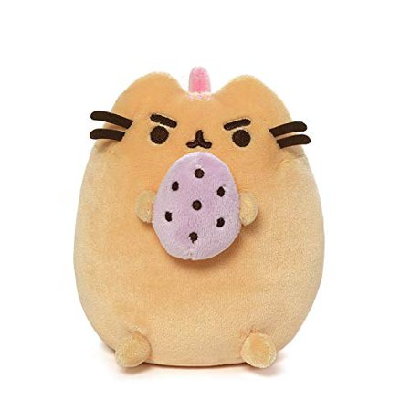 GUND Pusheen Pusheenosaurus Standing with Egg Plush Stuffed Dinosaur, 6