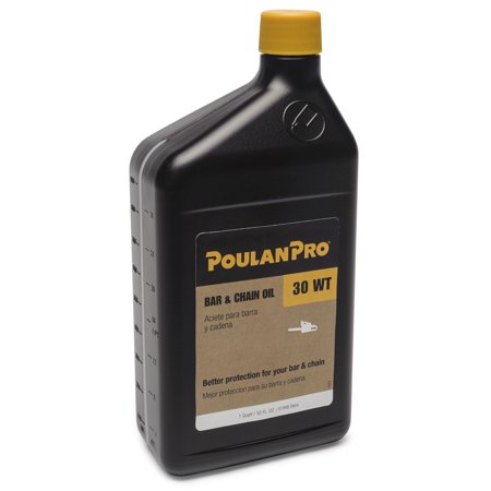 poulan pro chainsaw bar  chain oil  quart bottle  motor oil