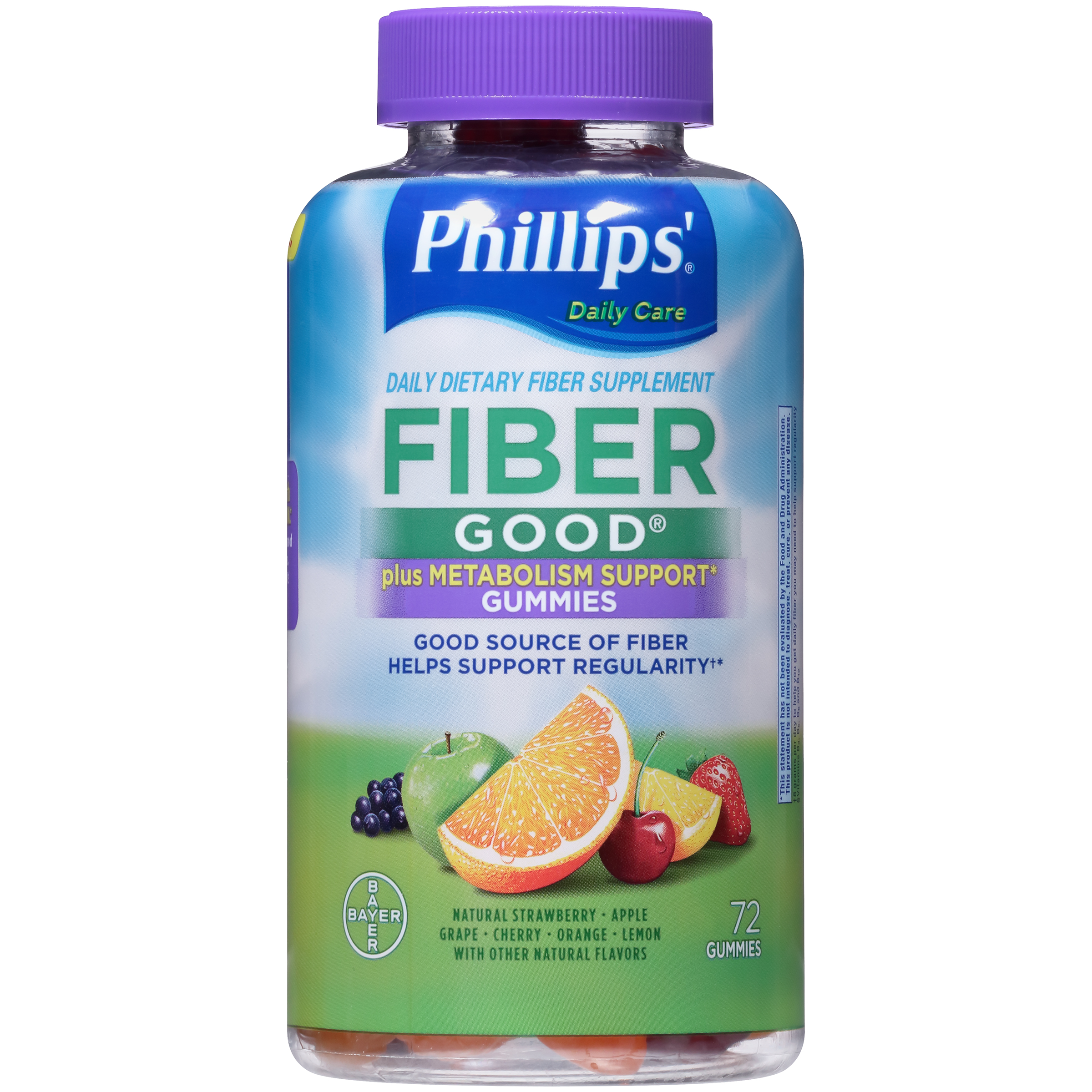 Phillips' Fiber Good Gummies + Metabolism Support, 72 Count