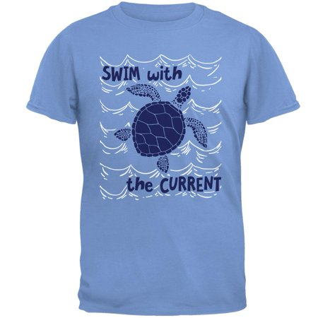 Sea 206 Clothing (Sea Turtle Swim with the Current Mens T)