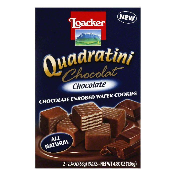 Loacker Chocolate Chocolate Enrobed Wafer Cookies, 2 ea (Pack of 8)