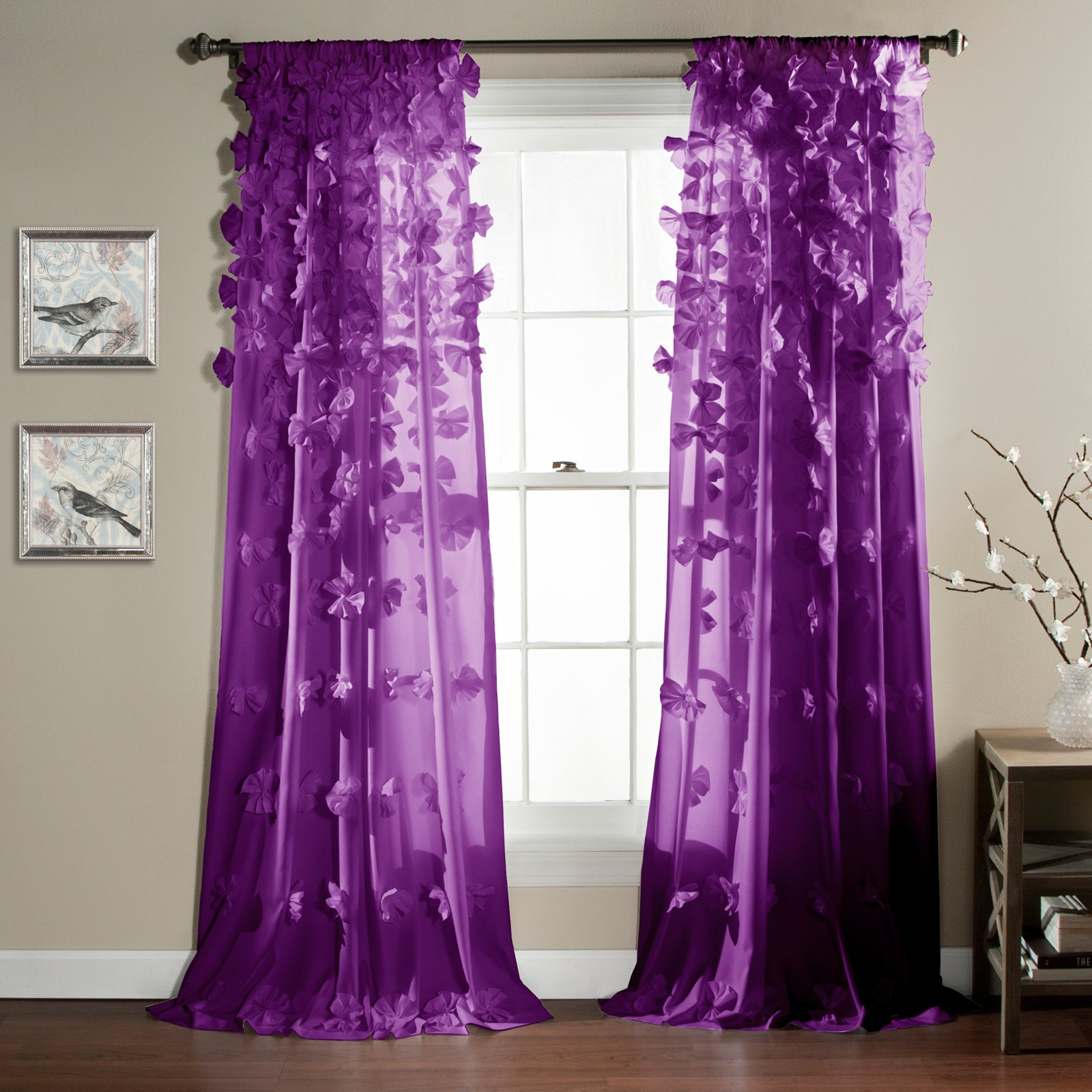 superior Pink And Purple Curtain Part - 11: Riley Girls Bedroom Curtain Panel - Walmart.com