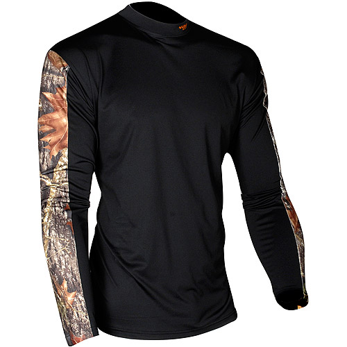 Yukon Gear Medium Weight Thermal Top, Black/Mossy Oak Break Up
