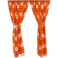 "Clemson Tigers 100% Cotton, 63"" Curtain Panels, Set of 2"