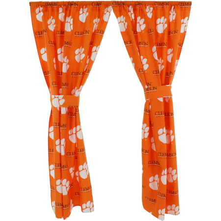 Tigers Ncaa Drapes - Clemson Tigers 100% Cotton, 63