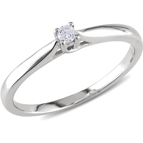 miabella accent sterling silver solitaire promise