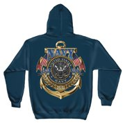 U.S. Navy The Sea Is Ours Hooded Sweatshirt by , Navy Blue, 3XL