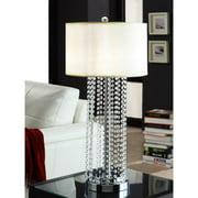 Tribecca Home  Saxton 1-light Crystal Chrome Table Lamp