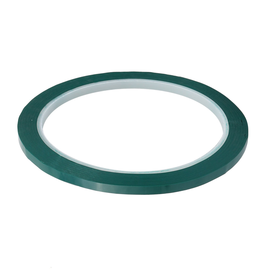 4mm Width 50M Length Single-side Electrical Insulated Adhesive Tape Green 5pcs