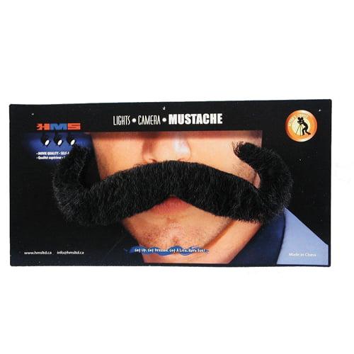 Mens Jumbo Black Moustache Halloween Costume Accessory